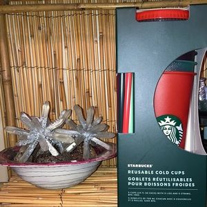 Starbucks Holiday 2020 Glitter Cold Cup Set